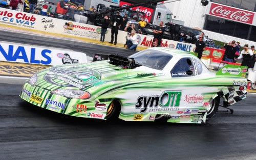 The Synoil Chevy Monte Carlo is widely regarded as one of Canada's most competitive Top Alcohol Funny Car operations.