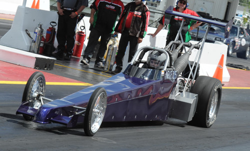 Grand Prairie AB is home base to this new snowmobile-powered dragster - new on the scene in 2011