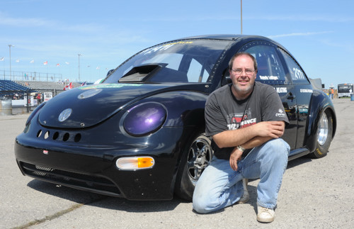 Randy LeBlanc with his unique VW approach to drag racing