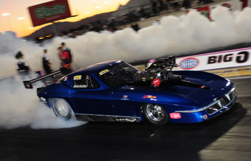Al Billes' new Pro Mod Corvette made it's competition debut at Las Vegas in October