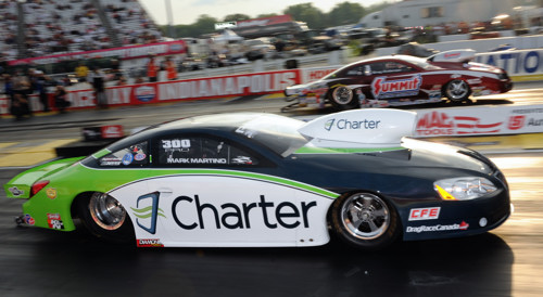 Ontario's Mark Martino made some big noise in NHRA racing last season.  His Pro Stock car will be a feature show attraction.