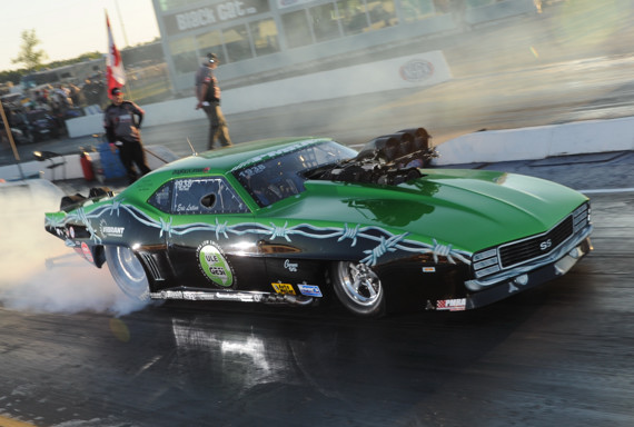 """2012 PMRA Champion Eric Latino's """"Team Green"""" Camaro is just one of many cool drag cars that will be featured"""