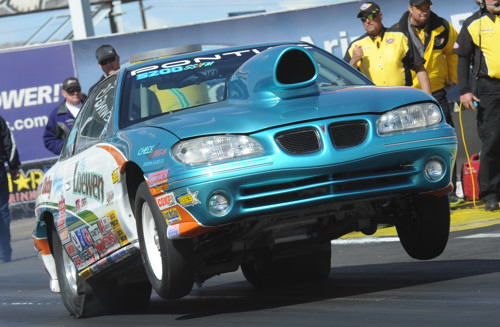 Regina's Abe Loewen was once again the top finishing Canadian racer -- going to the semi-final round in Super Stock.