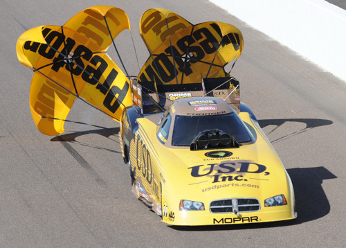Jeff Arend had his quickest lap yet in his new ride -- hitting 4.173 secs and 302.48 mph in the Jim Dunn Racing Charger