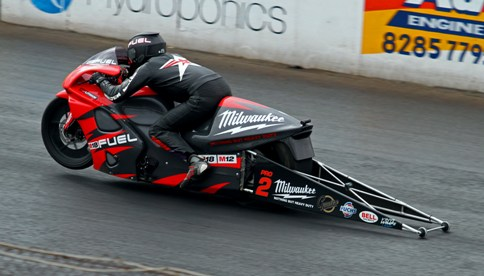 Maurice Allen scored in Pro Stock Motorcycle