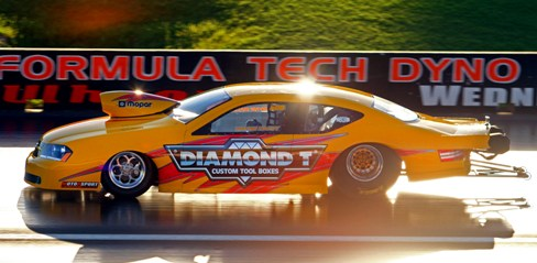 Wayne Daley's Dodge Avenger dominated while winning in Pro Stock at Perth