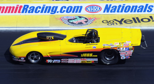 Defending S/C World Champion Al Kenny had a strong run in S/G at Las Vegas - lasting to the 4th round in his Corvette.