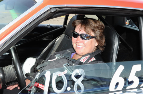 Charlene Gullett (from Calgary) drove her high flying GT/JA Olds at the event.
