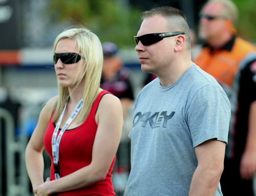 A truly great sight at Las Vegas was an appearance by Shawn Cowie (and new wife Taylor) who were back at the track taking in the action!