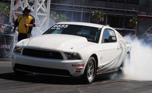Darrell Dietz from Medicine Hat Alberta entered his wicked AA/SA Mustang in NHRA national event competition for the first time.