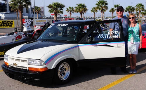 Bob and Shelly Marhall (from Olds AB) entered their Chevy S-10 GT/TA (formally raced by Victoria Smith) in Super Stock.