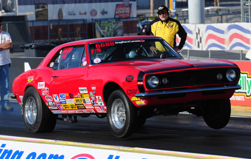 Mike Pruss was a busy man at Las Vegas racing two cars -- including his meticulous '67 Camaro F/Stocker.