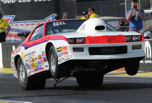 Regina's Grant Singer was the top finishing Canadian in Super Stock -- winning 3 rounds in his SS/BS Camaro before falling to World Champion Jimmy DeFrank.