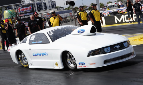 Howie Stevens ran his cool Ford Mustang C/A from BC in Competition eliminator at Las Vegas