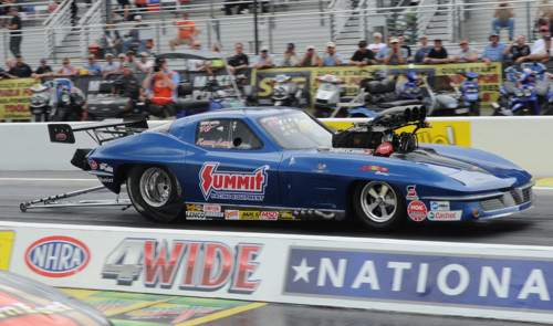 Winnipeg's Kenny Lang nearly reeled of a big win in Pro Mod -- taking Al Billes' Corvette to the final round where he lost a close decision to Troy Coughlin.