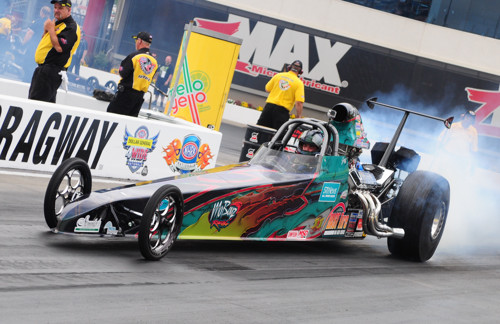 Ontario-based Q32 circuit regular tried his hand in the NHRA Top Dragster class at  Concord.  Jeff qualified 19th and won in round one.