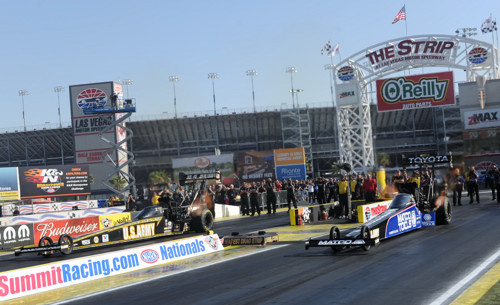 The TF Final featured battling DSR cars with Tony Schumacher edging out Antron Brown