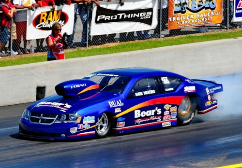 Mark Martino drove Larry O'Brien's Pro Stock Avenger at the ADRL race in South Georgia last weekend.