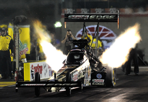 Rookie racer Brittany Force won her first career round in Top Fuel at Las Vegas
