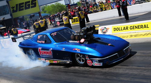 The Canadian Corvette duo of Kenny Lang and Al Billes placed runner-up in Pro Mod.