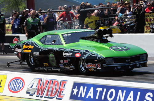 Ontario's Eric Latino entered his first ever NHRA national event and very well during his circuit debut.