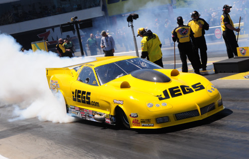 Troy Coughlin's spectacular R2B2-built Corvette scored in Pro Modified eliminator