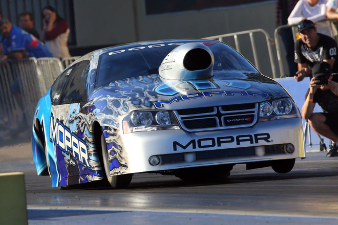 Lee Bektash had a terrific debut with his all new Dodge Avenger - winning in Pro Stock