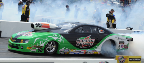 Mike Edwards set both low ET and top speed while winning convincingly again in Pro Stock