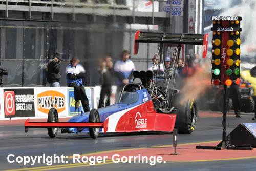 Finnish racers dominated Top Fuel at Santa Pod with Antti Horto emerging as the winner.
