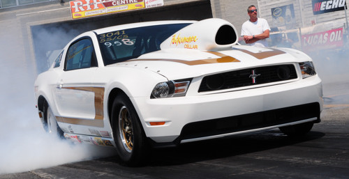 Venice Perno's Ford Mustang has already set multiple NHRA class records.