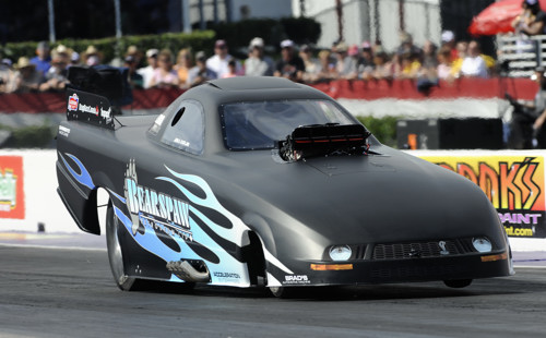 Jirka Kaplan's Bearspaw Petroleum Mustang ran it's quickest time of the event in the final at 5.644 secs to win.