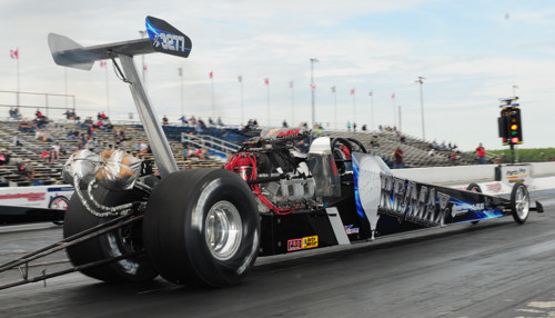 Bill White's win driving his Top Dragster was his first Napa Q32 series victory.
