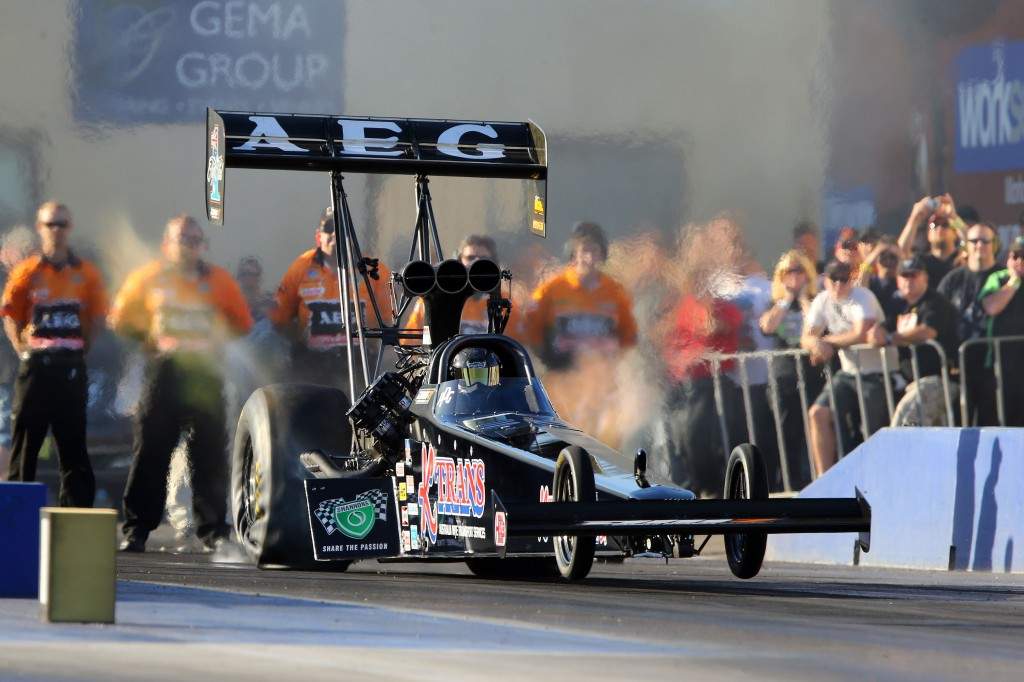 The Top Fuel crown at the Nitro Champs went to Darren Morgan