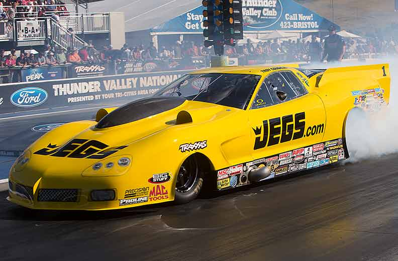 Troy Coughlin's R/UP finish put him to the top in NHRA Pro Mod points at the season's 1/2 way mark.