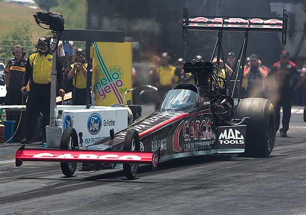 Steve Torrance collected his 4th career NHRA Top Fuel event title.