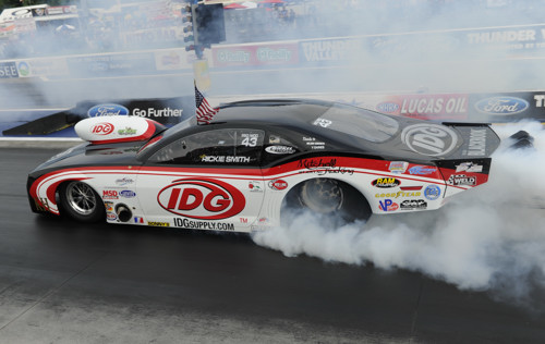 One of Pro Modified racings most reputed drivers - Rickie Smith won NHRA's event at Bristol for the 2nd year in a row.