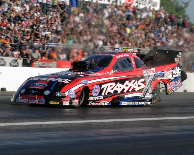 Courtney Force won for the 3rd time in her career in Funny Car eliminator