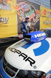 Defending NHRA World Champion Allen Johnson won again for Mopar in Pro Stock