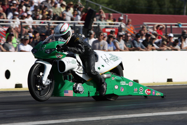 Pro Stock Motorcycle racing at NHRA Epping produced a first time winner :  John Hall
