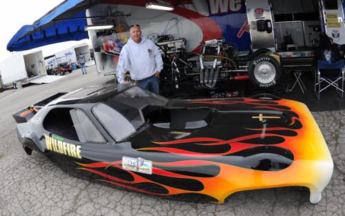 Rick Kopp with his new Plymouth Satellite Nostalgia Funny Car