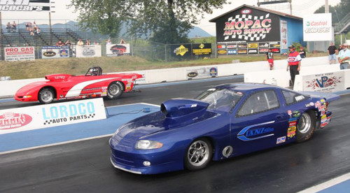 Mission Raceway's own Kirk Lanz won in Super Gas