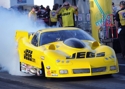 Troy Coughin moved into 2nd place in points with a runner-up finish racing the R2B2-built Jegs Corvette
