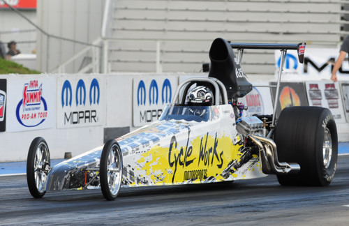 Edmonton's Jodi St. Arnaud won in Top Dragster in her first ever IHRA event entry.