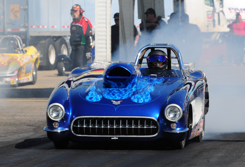 Mike Shannon took his BC-based '57 Corvette to victory in Super Rod.