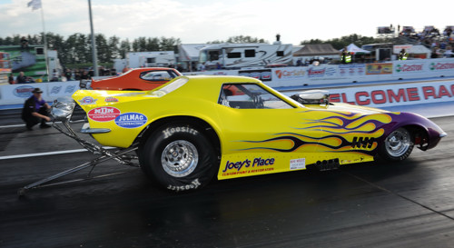 Joey Steckler took his show and go Corvette to victory in the 6.99 index FC class.