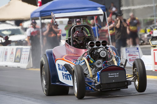 Ran Mahoney ran a sizzling 5.935 seconds at 236.13 mph in the Fuel altered exhibition