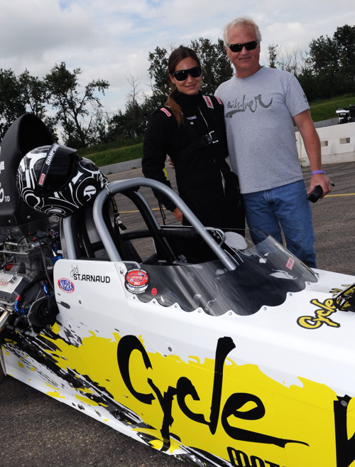 Jodi and Don St. Arnaud are dragster affection-ados!