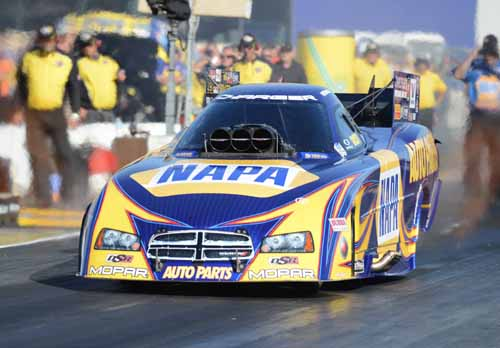Ron Capps rolled the Napa Dodge Charger into victory lane for the 40th time of his great career