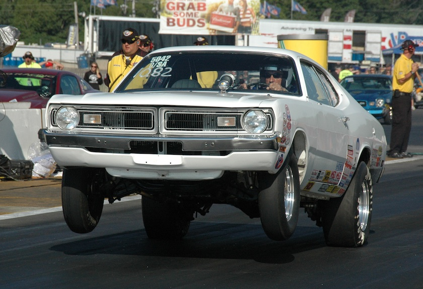 Don Glowa entered his D/SA Mopar from St. Andrews MB in Stock and qualified a -.744