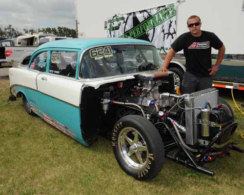 This '56 Chevy is where Casey Plaizier first cut his teeth drag racing & he is back racing it again in 2013.